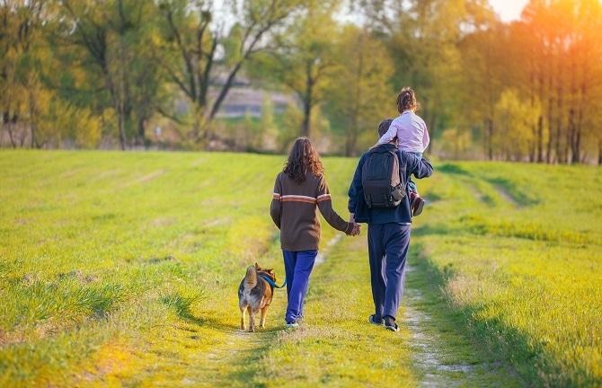 Fur-Babies-Pet-Resort-pet-health-maintenance-family-walk-with-dog